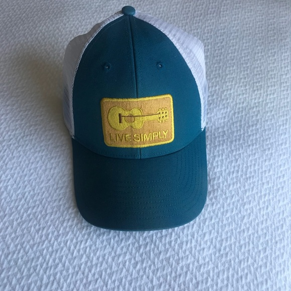 cbcf9486f Like new Patagonia live simply guitar trucker hat